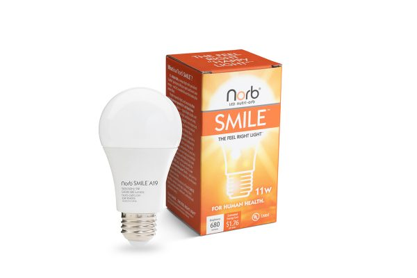 The NorbSMILE LED light bulb