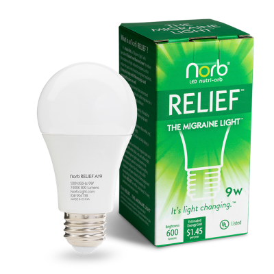 NorbRELIEF A19 1 Pack Bulb and Box