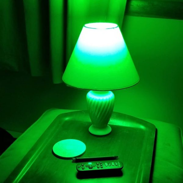 NorbRELIEF green migraine light in a lamp